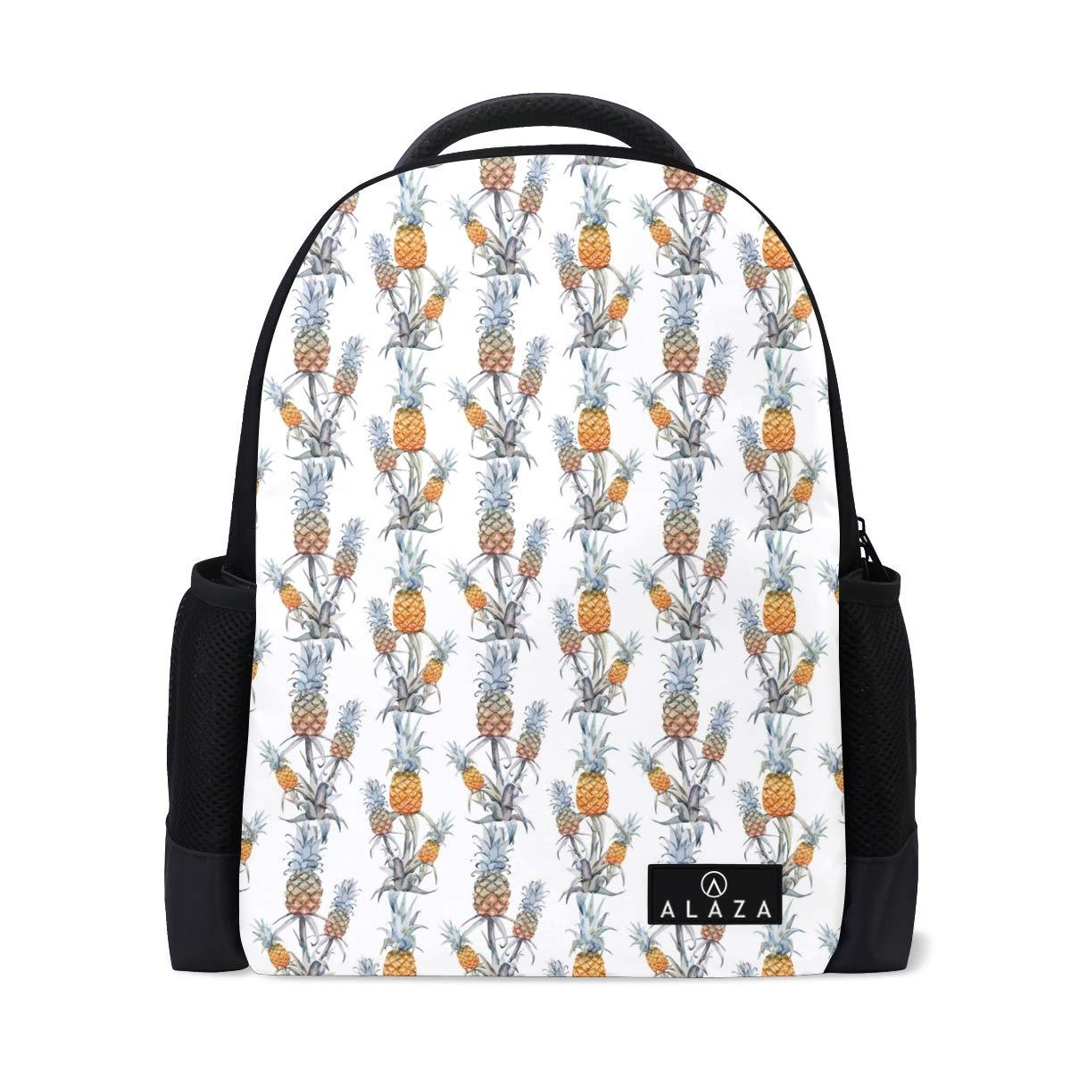 a43addc9adba Amazon.com: Fashion Student Backpack Watercolor Tropical Pineapple ...