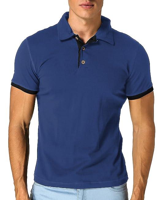 MODCHOK Hombre Polo Camiseta Manga Corta Henley Algodón Clásico Básico  Botones  Amazon.es  Ropa y accesorios 3646df2ed783d