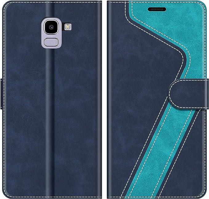 MOBESV Funda para Samsung Galaxy J6 2018, Funda Libro Samsung J6 2018, Funda Móvil Samsung Galaxy J6 2018 Magnético Carcasa para Samsung Galaxy J6 2018 Funda con Tapa, Elegante Azul: Amazon.es: Electrónica
