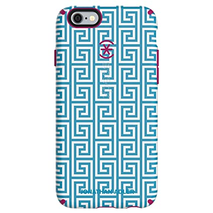online store 154af 0cb4b Speck Products CandyShell Inked Jonathan Adler Cell Phone Case foriPhone  6/6S - Retail Packaging - AquaGreekKey/Lipstick Matte