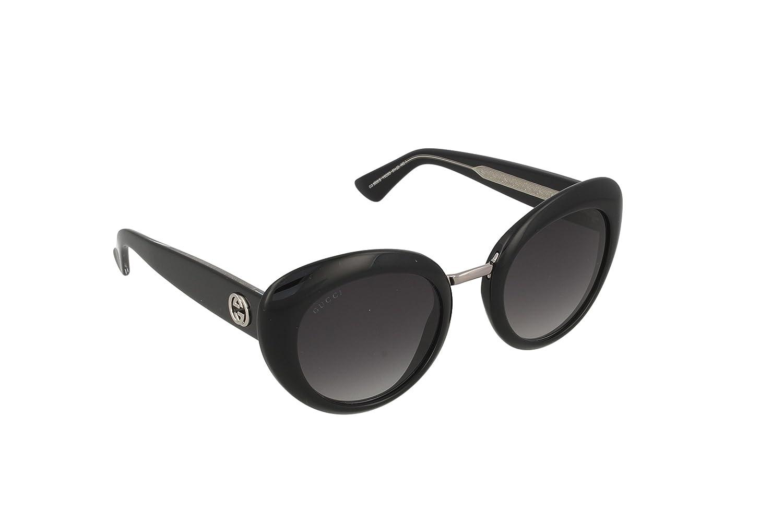 41ac4c95d Amazon.com: Gucci Womens Safilo Gradient Non Polarized Cat Eye Sunglasses  Black O/S: Gucci: Clothing
