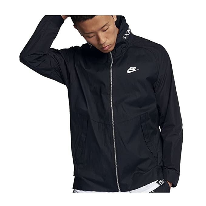 ed91b0a8f59d Nike Mens Air Max Woven Windrunner Track Jacket Black White 861598-010 Size  2X