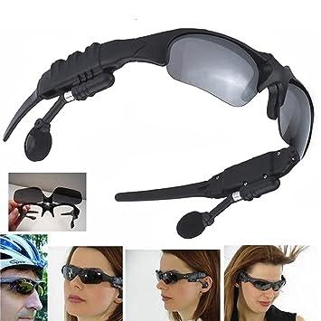 hikenn Cool Wireless Gafas de sol deporte auriculares bluetooth inalámbricos para iPhone Smartphone Negro: Amazon.es: Electrónica