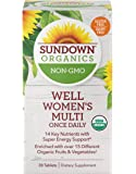 Organic Multivitamin for Women by Sundown, with Vitamins C, D3, and B, Non-GMO, Free of Gluten, Dairy, Artificial…