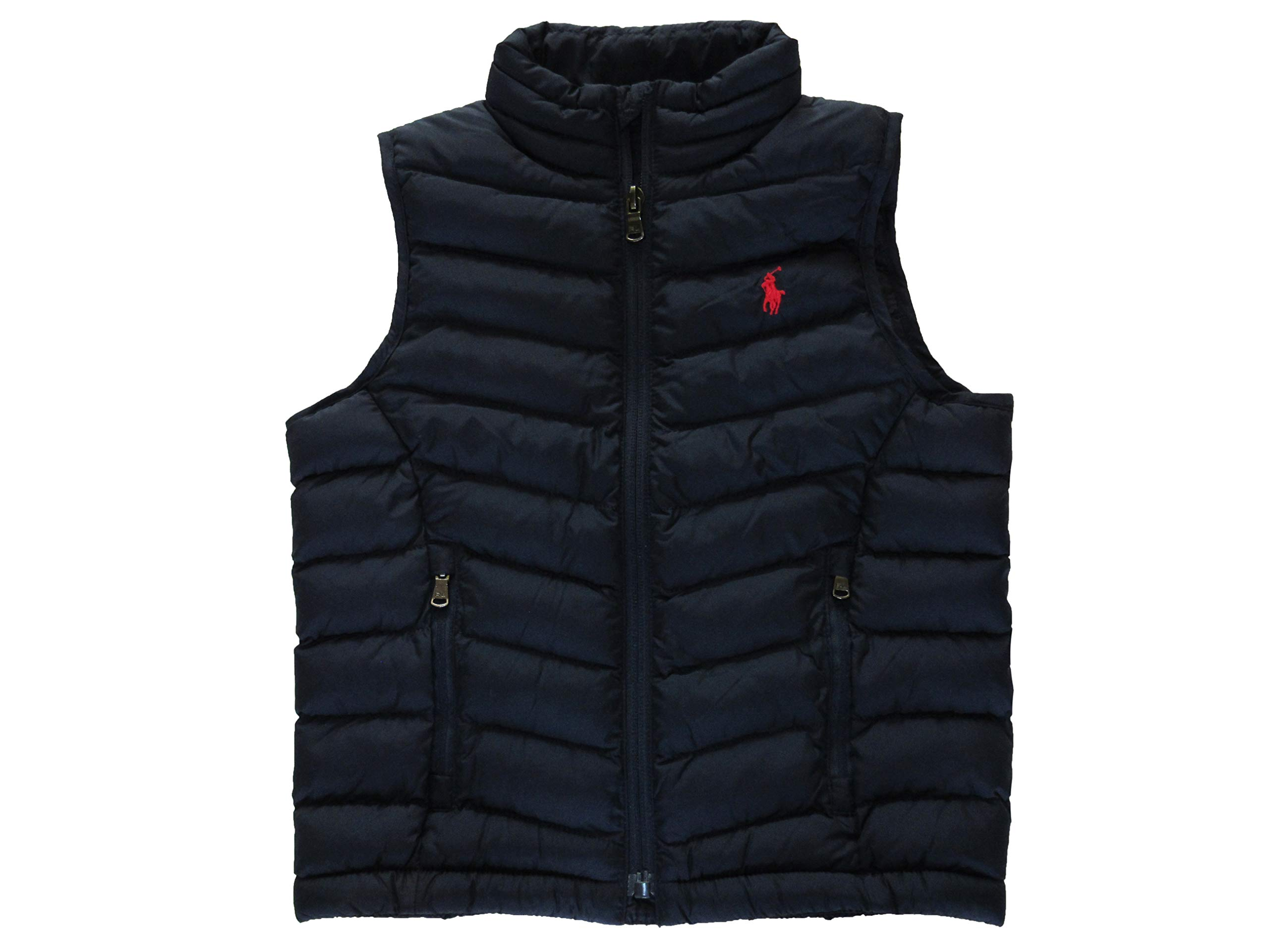 Ralph Lauren Polo Boys Quilted Polyester Fill Puffer Vest (4, French Navy) by Ralph Lauren