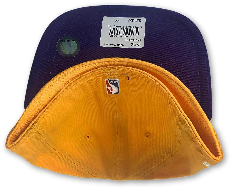 New Era Los Angeles Lakers Mens Two-Tone Flat Bill Hat Yellow