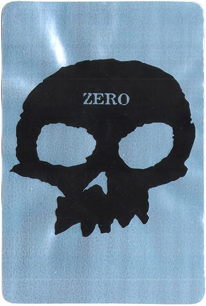 Zero Skull Skateboard Sticker Skate Snow surf Board BMX Guitar Van ipad Shiny Silver Background 15cm high Approx