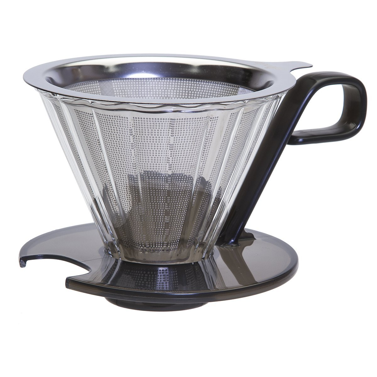 Primula PPOCD-6701 1-Cup Stainless Steel Pour Over Coffee Maker, 4.8 x 4.8 x 4.8 inches Black