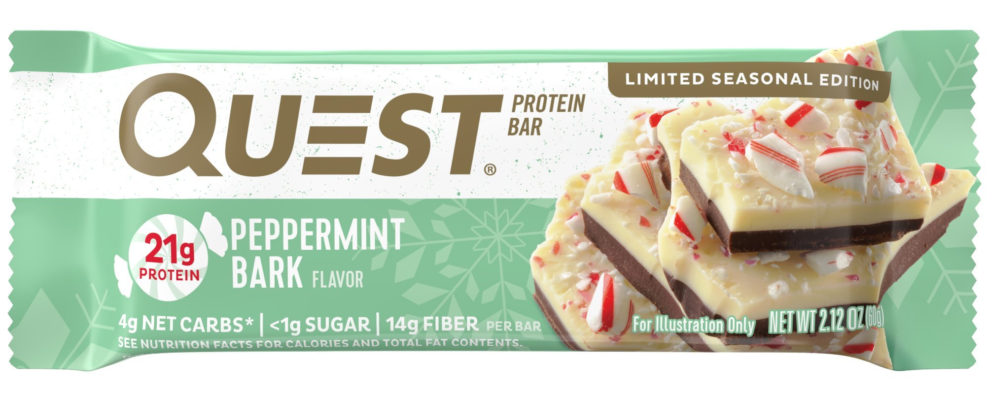 Quest Nutrition Protein Bar Peppermint Bark 12 Count