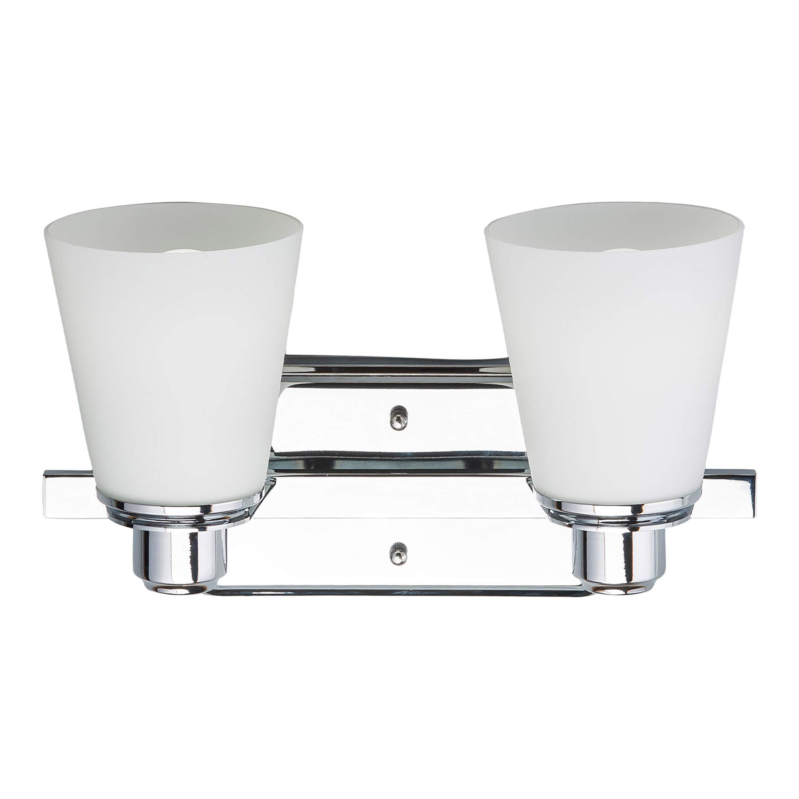 Terracina Two-Light Vanity Sconce Lamp, Polished Chrome with Opal Glass Linea di Liara LL-WL220-2 by Linea di Liara (Image #5)