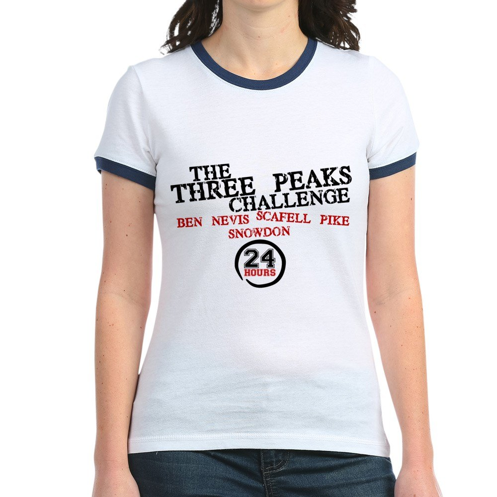 4f1b2a493 CafePress Three Peaks Challenge 24hrs Women's Ringer T-Shirt Pink ...