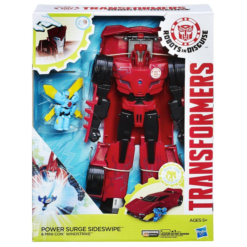 Hasbro Transformers B7068ES0 - Robots In Disguis Power Heroes Klasse - Sideswipe und Windstrike, Actionfigur B7068ES00