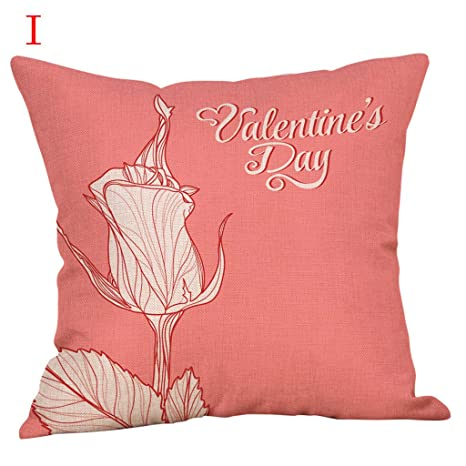 NPRADLA Happy Valentines Day Throw Pillow Case Sweet Love ...