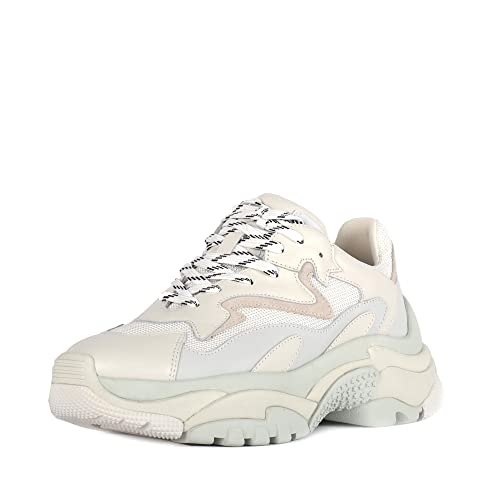 competitive price 9870c 8bae3 Ash Addict Trainers Off-White Leather & Mesh