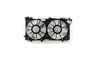 Dual Radiator and Condenser Fan Assembly - Cooling Direct For/Fit SU3115125 10-14 Subaru Legacy/Outback 3.6L
