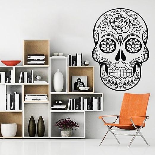 Sugar skull day of the dead sticker vinyl decal 9-3