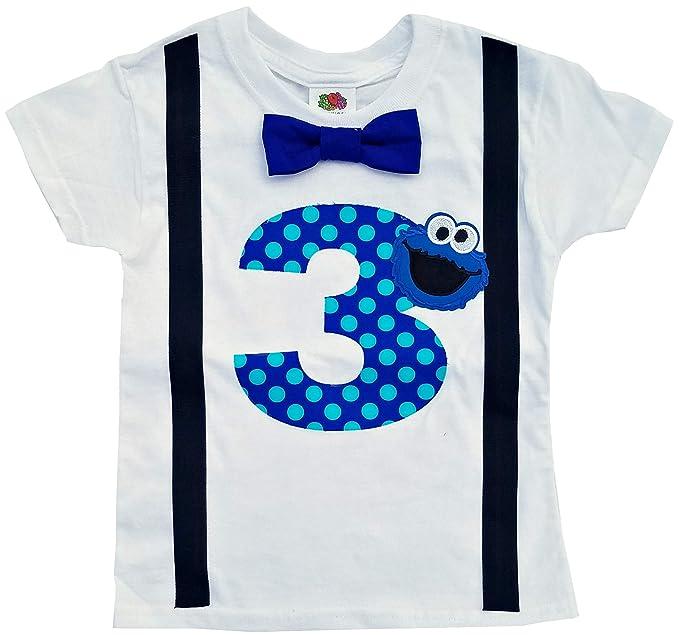 Amazon.com: 3RD Cumpleaños Camisa Niños Monstruo de las ...
