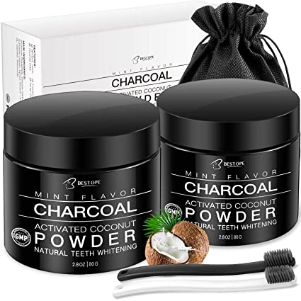Natural Activated Coconut Charcoal Teeth Whitener Powder