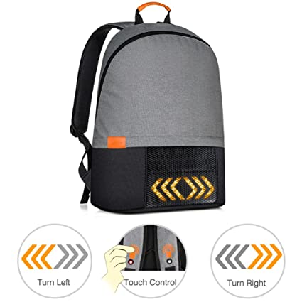 100% Quality Outdoor Hiking Camping Bicycle Led Safety Turnning Signal Light Backpack Signal Light Indicator Reflective Vest Bike Backpack Cycling