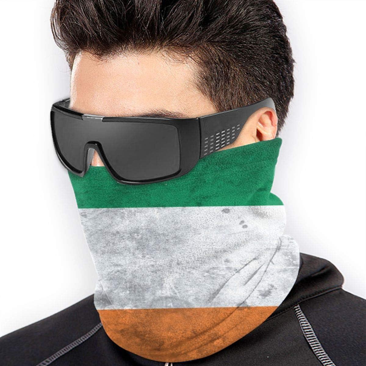 Bandana for Rave Face Mask Dust Wind UV Sun Protection Neck Gaiter Tube Mask Headwear Mask for Men Women - Distessed Irish Flag