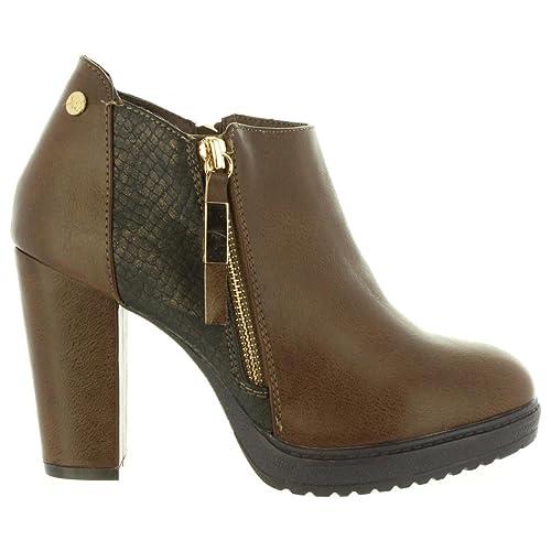 Botines de Mujer XTI 47214 C Taupe Talla 41: Amazon.es: Zapatos y complementos