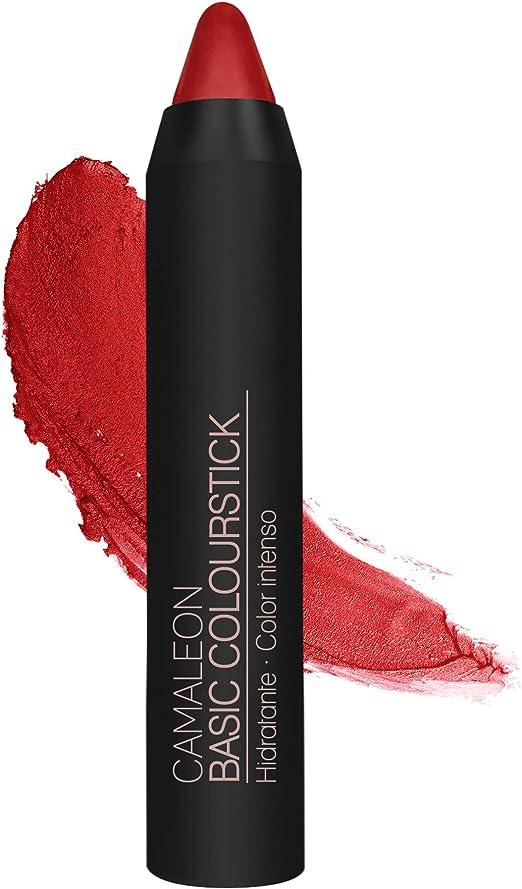 Camaleon Cosmetics, Basic Colourstick Color Rojo, 1 Unidad, 4gram