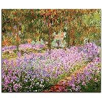 YUUWO Colorare di Numeri Quadri di Claude Monet Tipi di Ninfee, Impressione, Immagini di Loto Dipinte da Numeri con Colori Fai da Te 40x50cm