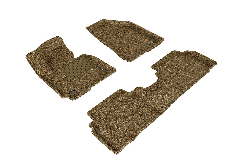 U-Ace L1HY05502209 3D MAXpider All 2 Row Custom Fit Floor Mat for Select Hyundai Tucson Models Black Classic Carpet