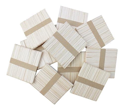 300 Wooden Lollipop Craft Sticks Natural 115mm x 11mm - Lolly Sticks