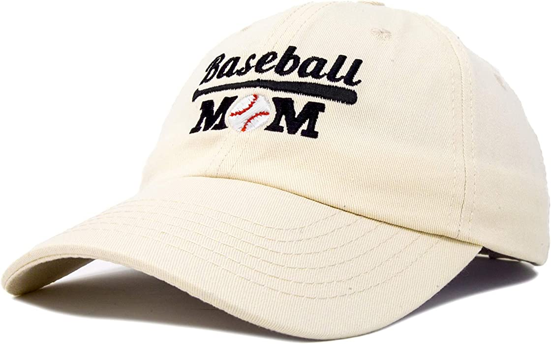 bc42db16dbf84 DALIX Baseball Mom Women's Ball Cap Dad Hat for Women in Beige at ...