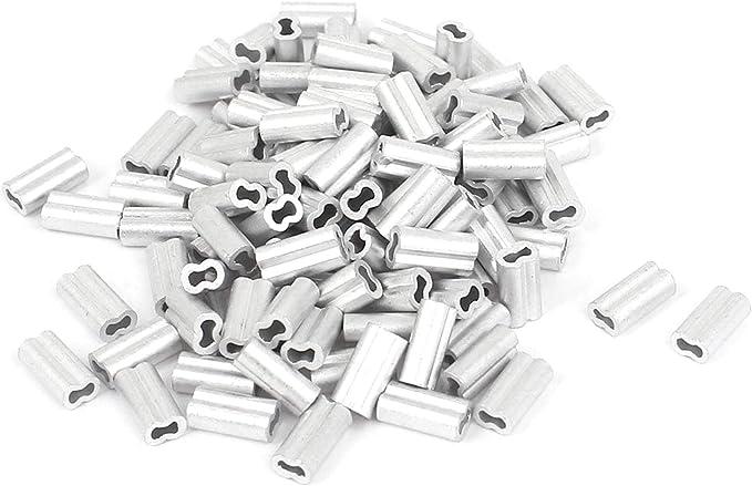 Fiween Sourcingmap Lot de 100 Manchons en Aluminium 1 mm
