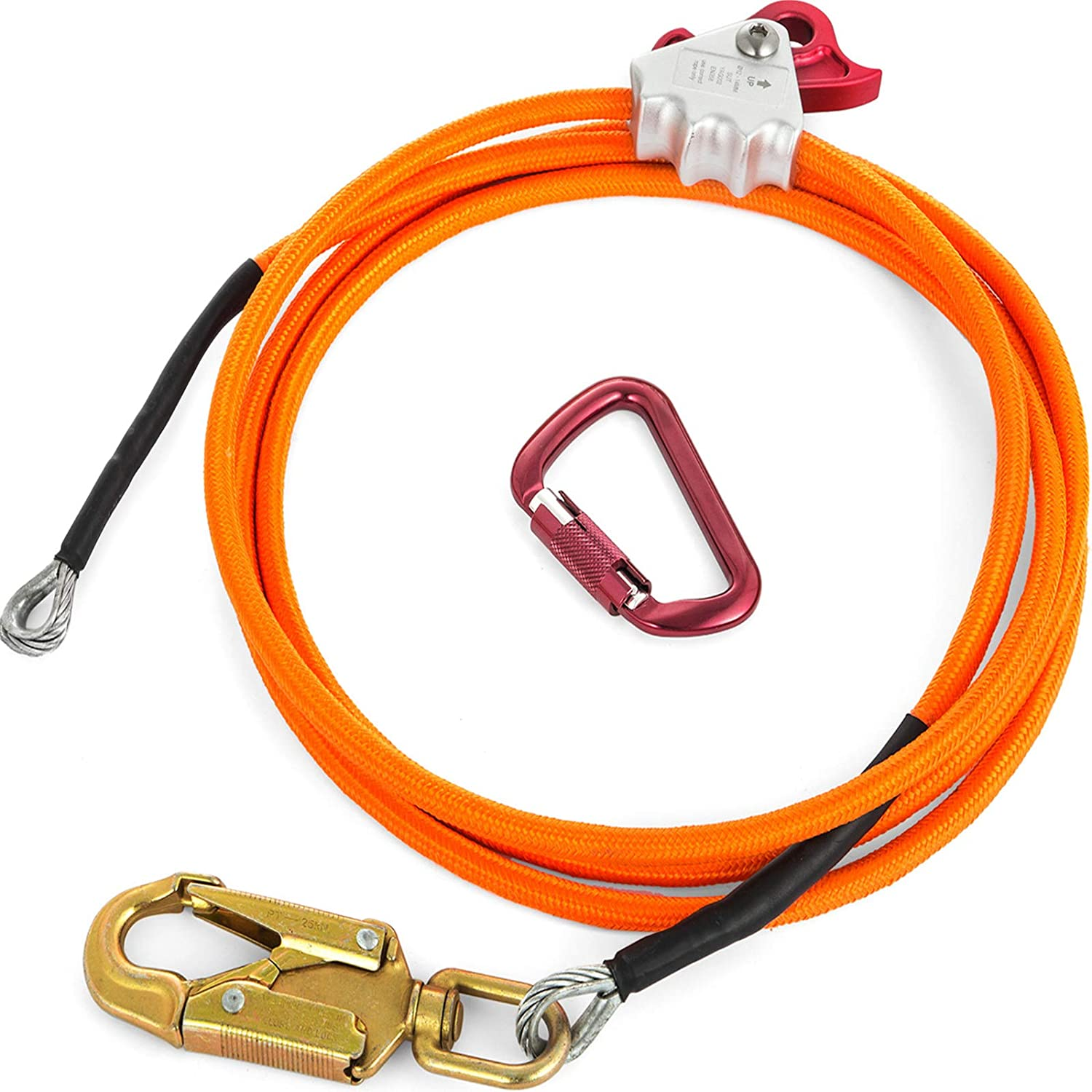 "Steel Core Climber Flipline Kit 2 in 1 Lanyards 2 Snaps 1//2/"" X 12/'"