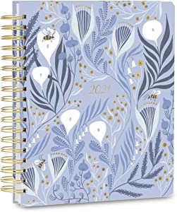 "High Note 2021 Planner by Rae Ritchie, Garden Bee Wildflowers 17-Month Deluxe Hardcover Planner, August 2020 - December 2021, 9"" x 10"""