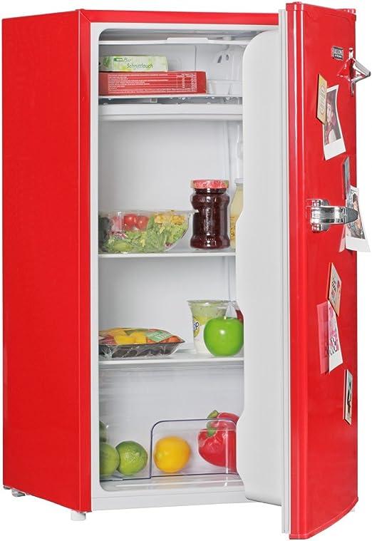 FineBuy Diseño Retro minikühl Armario 95L a + con congelador ...