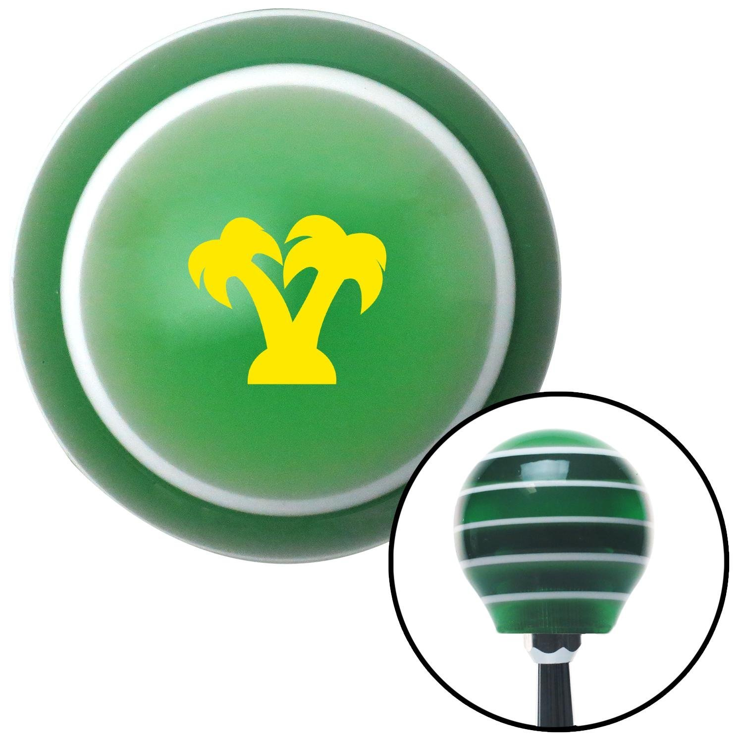 American Shifter 275137 Shift Knob Yellow Palm Trees Green Stripe with M16 x 1.5 Insert