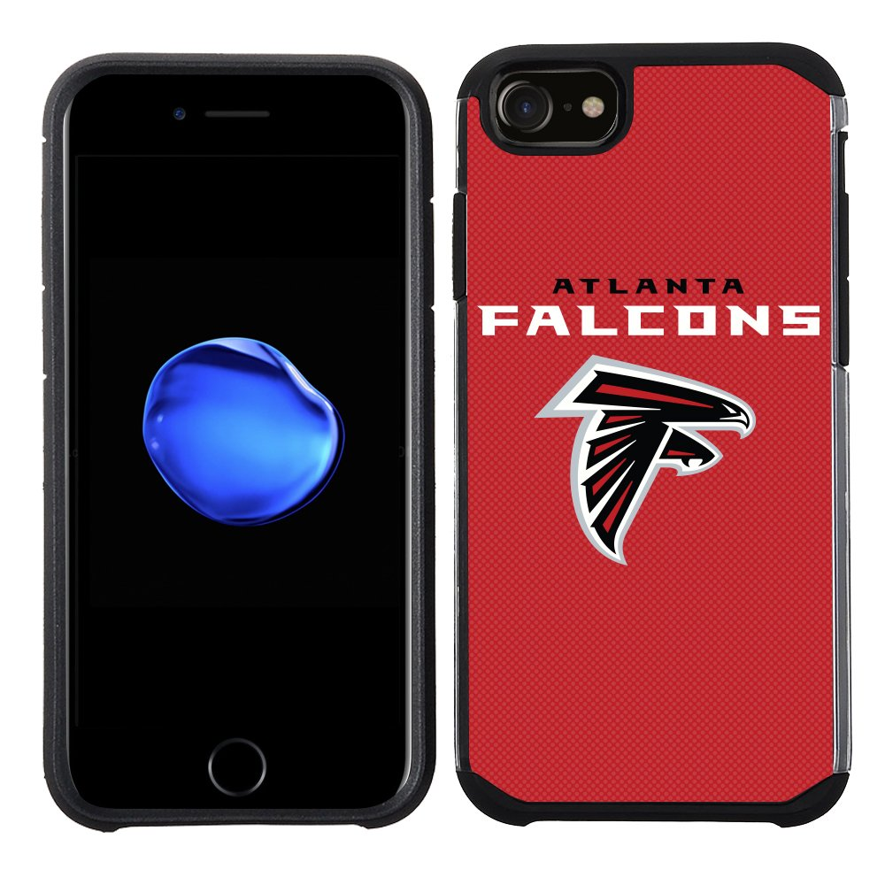 NFL Licensed Atlanta Falcons Textured Solid Color Prime Brands Group Cell Phone Case for Apple iPhone 8// iPhone 7// iPhone 6S// iPhone 6