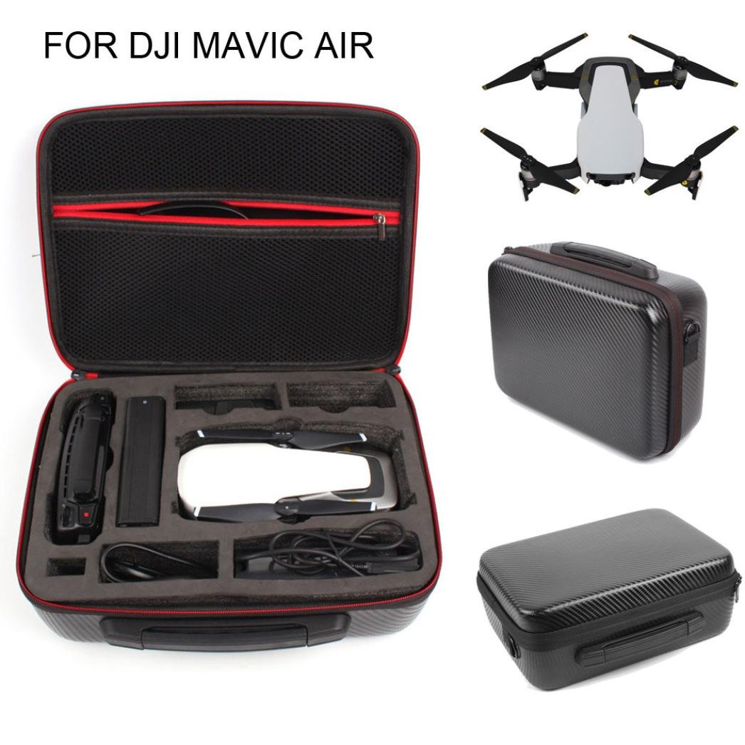 Kanzd Portable Storage Bag Shoulder Bag Waterproof Carrying Case For DJI Mavic Air (Black)