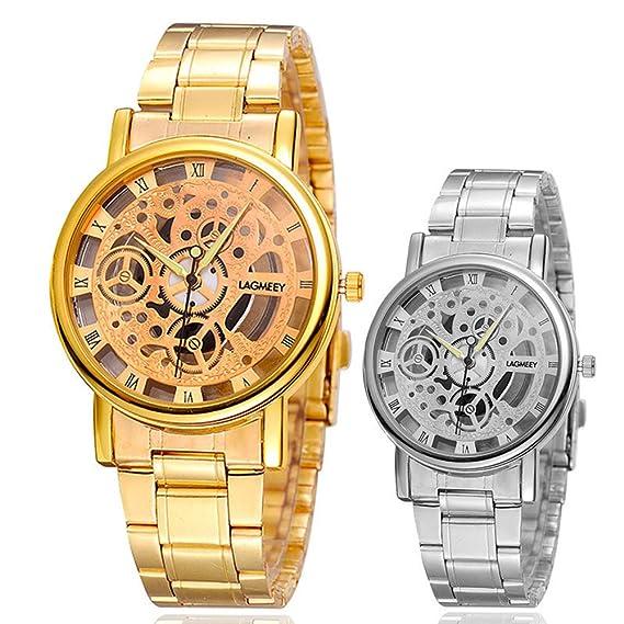 Mujer Única Reloj de pulsera Lagmeey Relogio Masculino Relojes al por mayor de cuarzo Bluray Hombre: Amazon.es: Relojes