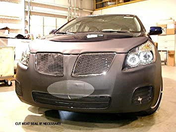 Car Mask Bra PONTIAC,VIBE,,,2003 Lebra 2 piece Front End Cover Black Fits