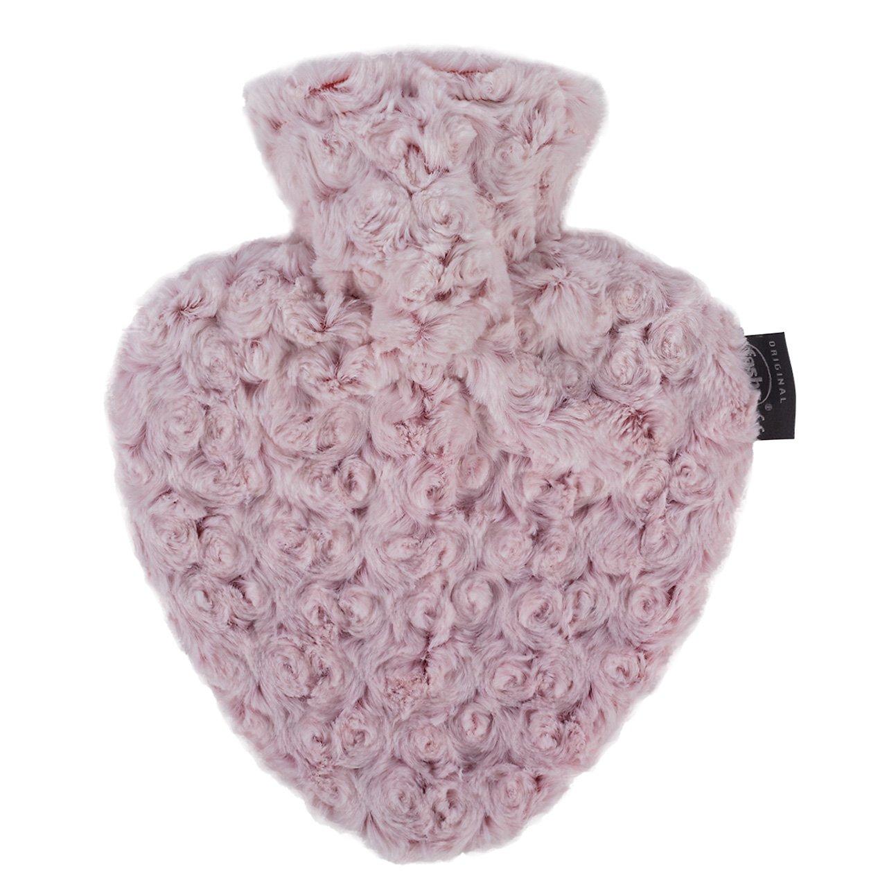 Fashy Bouillotte en forme de coeur avec housse Motif roses en
