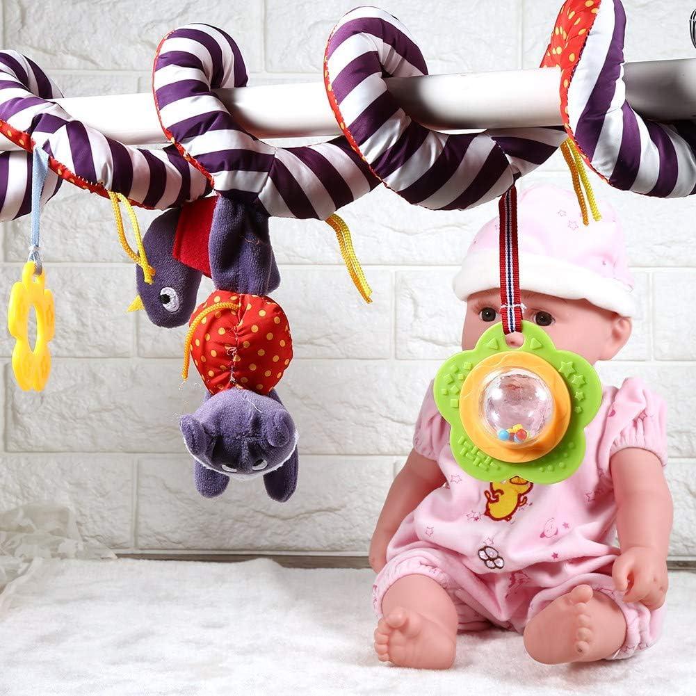 Kid Baby Spiral Bed Cochecito de juguete con campana Insectos de dibujos animados Sonajeros colgantes Cochecito en espiral Asiento de coche Juguete educativo de felpa para beb/és Ni/ños Ni/ñas