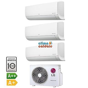 Climatizador Aire Acondicionado Inverter Trial Split New LG Libero Serie EP 9000 + 9000 + 9000 BTU 9 + 9 + 9 MU3 M19 ue4 Clase A + + 2017: Amazon.es: Hogar