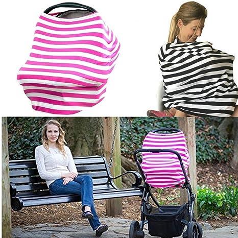 Funda para silla de coche de bebés transpirable y fular portabebés multiusos de Hoyou. Cubre