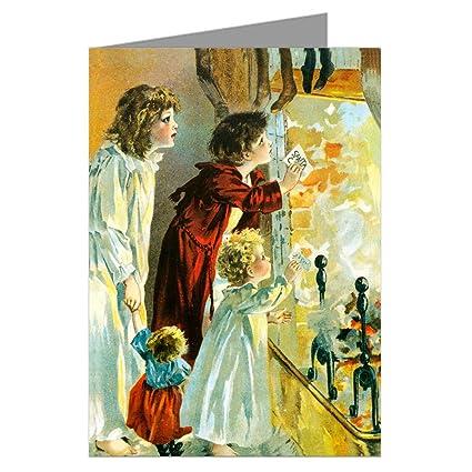Amazon Com Victorian Christmas Children Sending Santa Wishes Up
