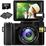 Digital Camera Vlogging Camera 30MP Full HD 2.7K Vlog Camera with Flip Screen 3 Inch Screen Vlog Camera for YouTube with…