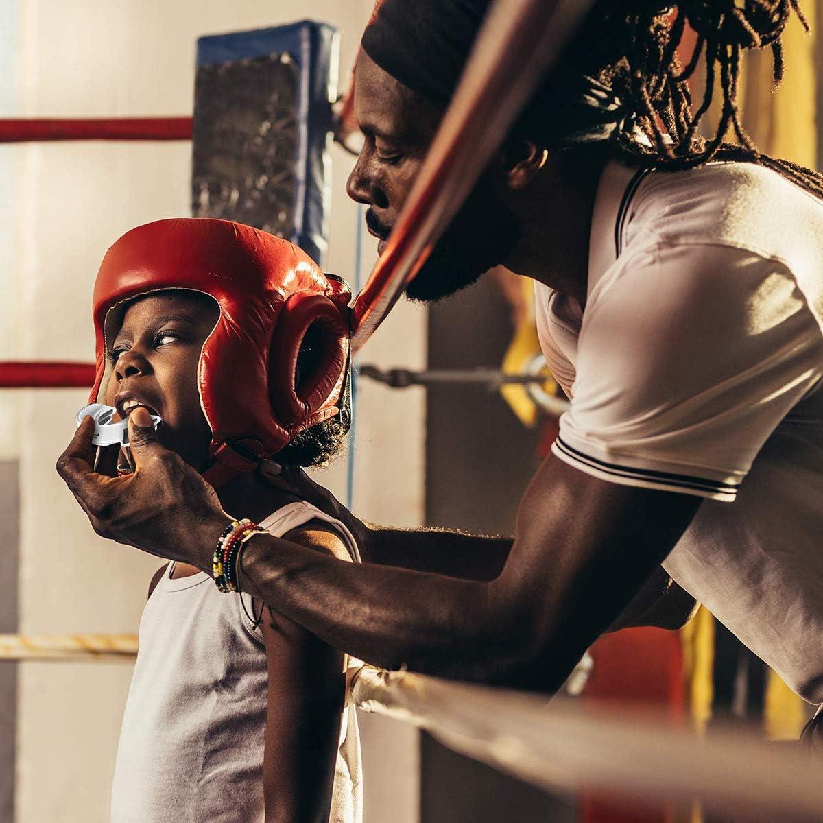 Judo und andere Kontaktsportarten GrandEver Zahnschutz Hockey Boxen Basketball 2-teiliger Mundschutz f/ür Erwachsene und Jugendliche Rugby