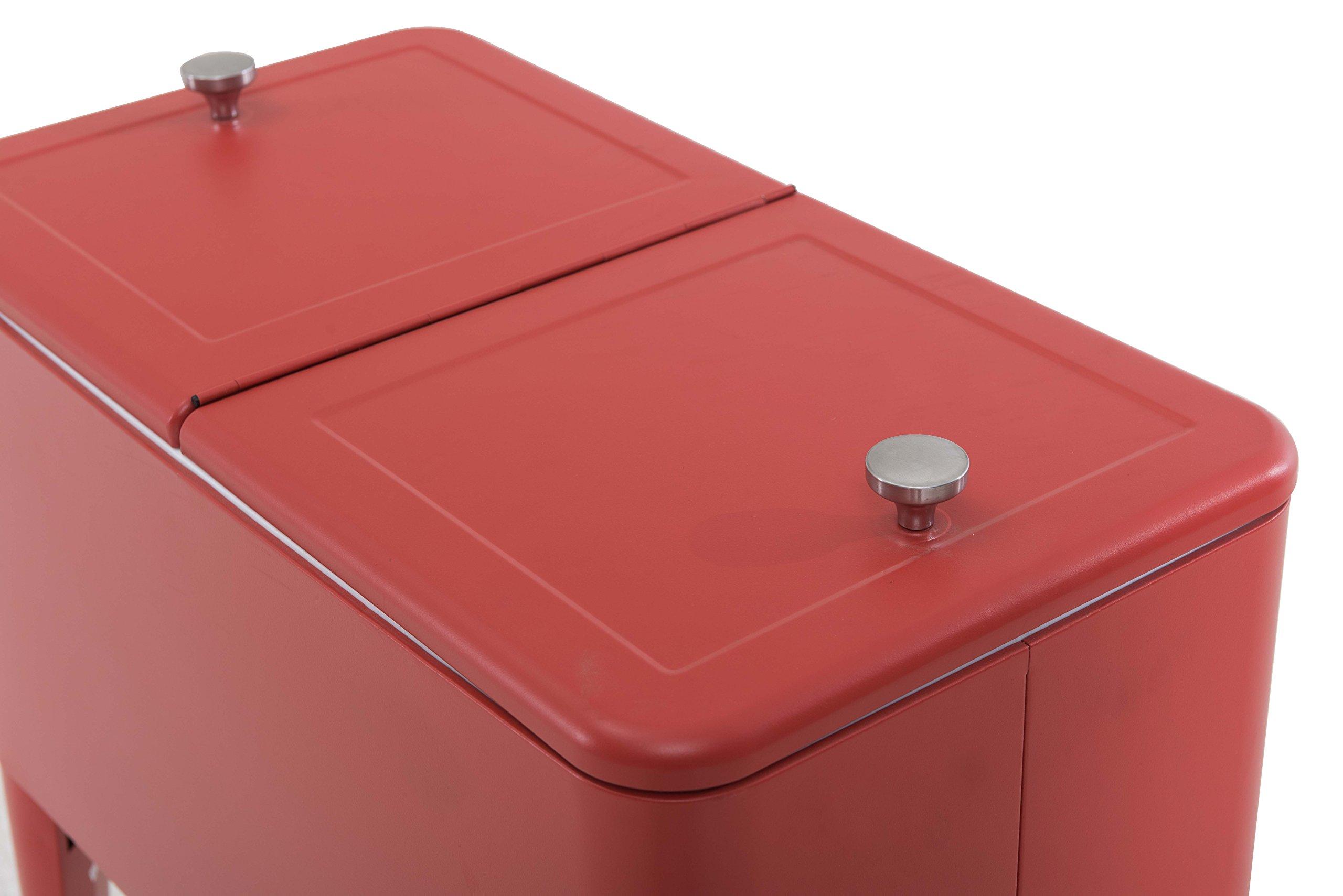 Sunjoy L-BC153PST 60 quart Wheeled Beverage Cooler in Red by sunjoy (Image #6)