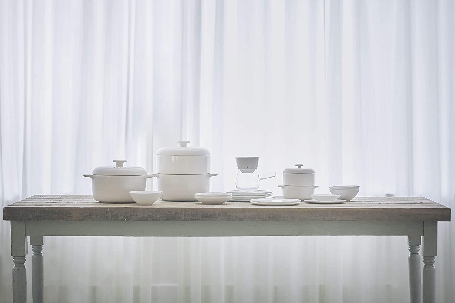White, 14cm JIA Inc Steamer II Series Pot with Lid