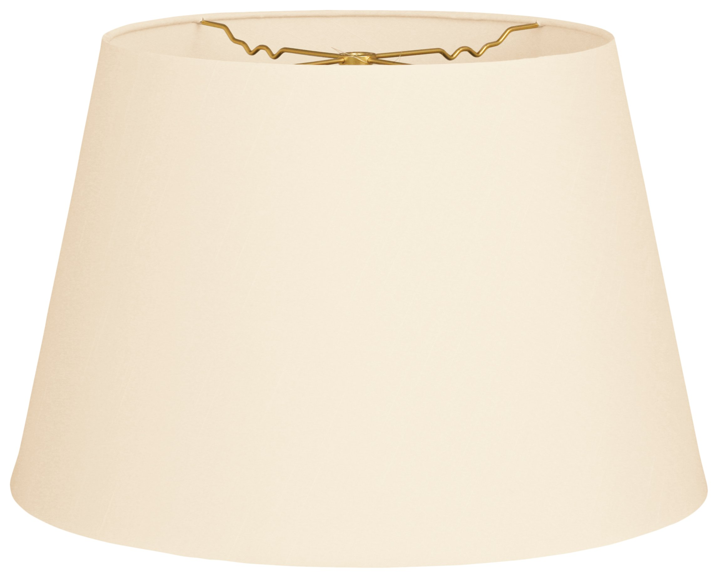 Royal Designs HB-606-20EG Tapered Shallow Drum Hardback Lamp Shade, Eggshell, 14 x 20 x 13