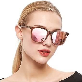 SIPHEW Polarized Mirrored Sunglasses for Women, Fashion Oversized Design Sun Glasses- 100% UV Protection Eyewear
